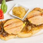 Foie pato con cebolla