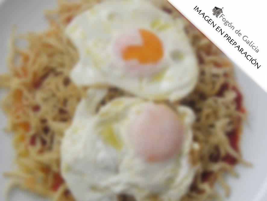 Chanquetes con huevo frito