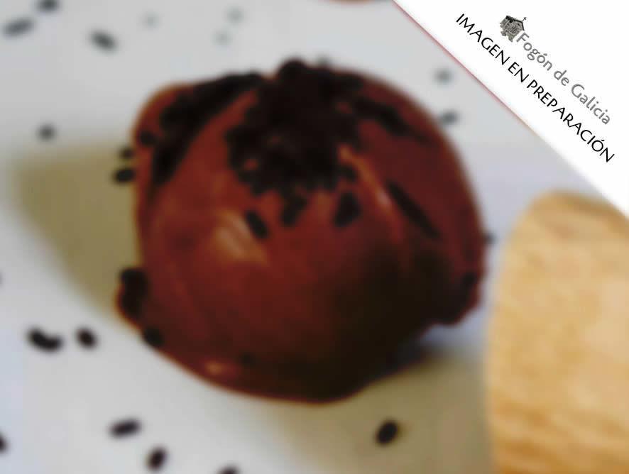 Helado de orujo de café casero